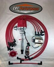 Small Cap CHEVY CORVETTE Tach Drive RED HEI Distributor,coil, plug wires under