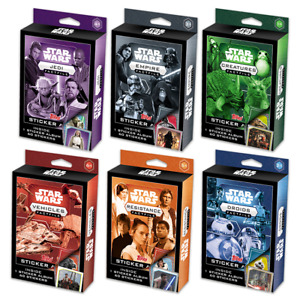 TOPPS STAR WARS FACTFILE COMPLETE 6 STICKER SETS & ALBUMS TOTAL 504 STICKERS