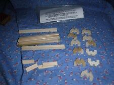 Dollhouse Miniatures  Kit To Build a Park Bench Complete Extra Pieces Directions