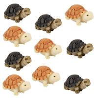 10pcs Miniature Dollhouse Bonsai Fairy Garden Landscape Tortoise Decor Beauty n