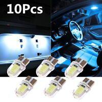 10Pcs LED T10 194 168 W5W COB 8SMD CANBUS Silica White License Light Bulbs