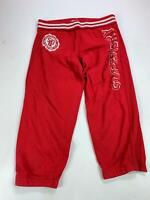 MENS SUPERDRY RED LOGO PRINT CASUAL STRAIGHT LEG CASUAL CROPPED TROUSERS SIZE L