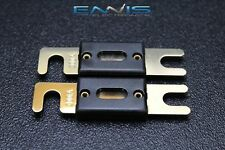 2 PACK 300 AMP ANL FUSE FUSES GOLD PLATED INLINE WAFER HIGH QUALITY HOLDER