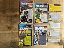 Gi JOE Action Force File and Backing Cards Bundle job lot  .
