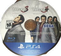 The Yakuza Remastered Collection PlayStation 4 PS4 Games 3 &4 Only 9B