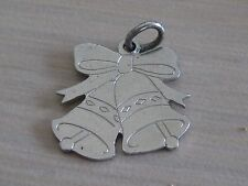 Estate Sterling Silver Double Wedding Bells Charm Flat 2.0 grams