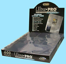 600 ULTRA PRO PLATINUM 9-POCKET Card Pages Sheets Protectors Sport 3 ring binder
