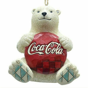 Jim Shore*COCA-COLA POLAR BEAR with LOGO*Ornament*NEW 2017*Bow*NIB*4059722