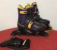 Vintage 90s Blade Runner Pro 2500 Mens Size 9 Inline Skates Black Purple Yellow