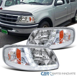 For 97-02 Ford F150 Expedition SMD LED Strip Headlights Signal Lamps Left+Right