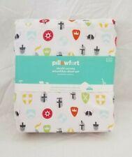 3 pc Pillowfort Knight Armour Shield Society Twin Sheet Set NIP