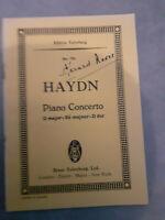 N°791 - Piano Concerto - Joseph Haydn - Edizione Eulenburg
