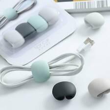 Earphone Cable Winder Tidy Headphone Line Cord Rack Wire Organizer FI