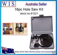 16/PK Hole Saw Drill Bit Cutter Wood Working Tool 19-127mm Carbon Steel-81221
