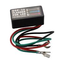 1X(LED RELAIS REPETITEUR CLIGNOTANT FLASHER 3PIN BROCHE POUR VOITURE MOTO Q8W 8T