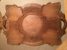 1960 Vintage Handcrafted German/Austrian Serving Tray.