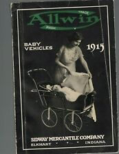 Allwin Baby Vehicles 1915 Catalog Sidway Mercantile Co Carriages Wood Sleepers