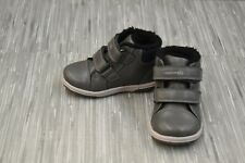 **Geox Flick Faux Leather Sneakers, Toddler Boy's Size 6.5, Charcoal