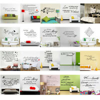 Family DIY Removable Wall Sticker Decal Art Vinyl Quotes Mural Home Room Decors