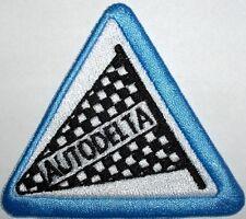 Toppa ricamata patch termoadesiva logo AUTODELTA Alfa Romeo lato cm. 8