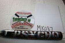 New Miken Psycho 2011 Balanced Balance 34 28 MSPFU HOT softball bat 100mph +