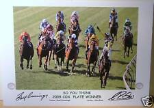 SO YOU THINK 2009 & 2010 Cox Plate signed Print