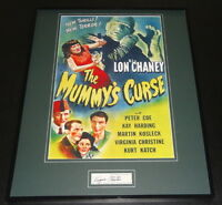 Virginia Christine Signed Framed 16x20 The Mummy's Curse Poster Display JSA