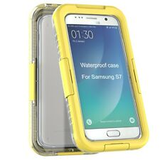 YemotaPro Wasserdicht Galaxy S7 Waterproof Case Outdoor Schutz Hülle - Gelb