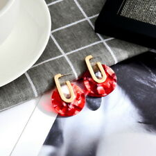 2018 New Acetic Acid Acrylic Dangle Round Earrings For Women Fashion Jewelry