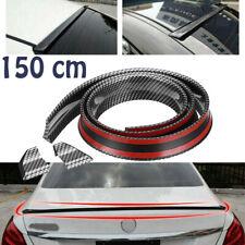 Universal 5ft Carbon Fiber PU Car Rear Roof Trunk Spoiler Wing Lip Sticker Kit