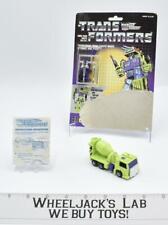 Mixmaster W CARDBACK BUBBLE 100% Action Vintage Hasbro G1 Transformers