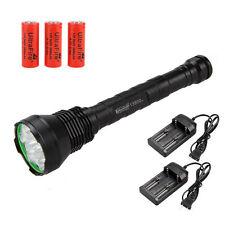 13800Lm 12x CREE XM-L T6 LED Flashlight Torch 26650 Spotlight Rechargeable Lamp
