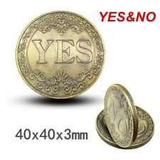 Collection Coin YES or NO 3D Bronze Embossed Gold Coins Lucky Collectibles