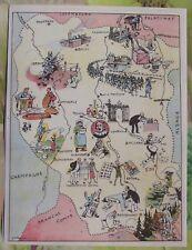 Carte de France Illustrées d'après Pinchon Verdun Commercy Épinal Baccarat Kirch