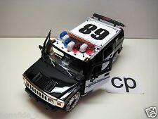 JADA DUB CITY HUMMER H2 POLICE CAR 1:24 BLACK W GRAPHIC CARS JADA TOYS