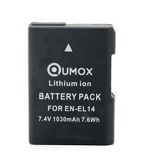 Qumox vollständig decodiert EN-EL14 1030mAh Akku für Nikon D3100 D3200 D5200