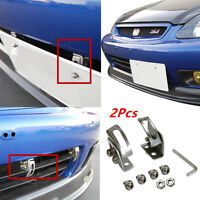 Car Angle Bumper License Plate Relocator Bracket Holder Mount Support Universal