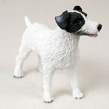 JACK RUSSELL dog HAND PAINTED FIGURINE Resin Statue COLLECTIBLE Black Puppy NEW