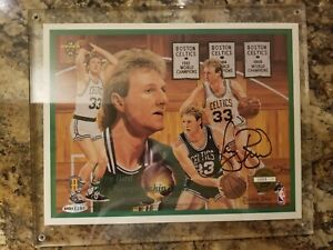 Larry Bird SIGNED 1993 Upper Deck The Championship Years 8x10 UDA Certified