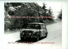 Vernaeve & $ BMC Mini Cooper ALPINE RALLY 1966 RARA FOTOGRAFIA