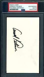 Arnold Palmer PSA DNA Coa Signed 3x5 Index Card Autograph