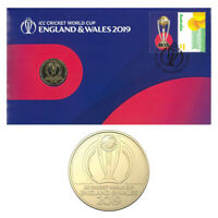 Australia 2019 ICC Cricket World Cup England & Wales Stamp & $1 Coin Cover - PNC