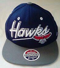 NWT Atlanta Hawks NBA Original Snapback by Zephyr Hat Wool Blend 'Puffy' Logo FS