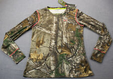 UNDER ARMOUR UA Heatgear EVO Women Camo Scent Control Fitted Hunting Shirt NWT L
