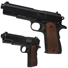 BGS A1 Vollmetall Airsoft Pistole Softairpistole 6 mm <0,5 Joule schwarz/braun