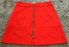 ☆Lush Rover Island Zip Front Mini Scuba Skirt, Tomato Red☆Size 14☆Immaculate!☆