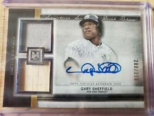 2020 topps Museum Collection Gary Sheffield Autograph Dual Relic/Bat. Auto