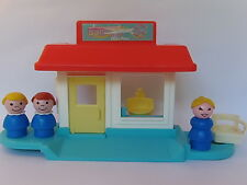 VINTAGE Fisher Price Little People #2453 BEAUTY SALON w/ ORIGINAL GIRL & MORE
