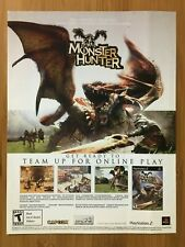 Monster Hunter PS2 Playstation 2 2004 Vintage Poster Ad Print Art Official Promo