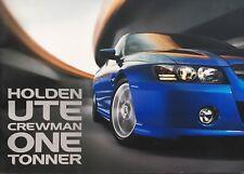 Holden VZ Commodore Ute Crewman One Tonner brochure SS V8 VU VX VY VE
